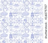 big set with doodle images... | Shutterstock .eps vector #416075707