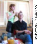 young beautiful woman getting... | Shutterstock . vector #416093227