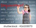cute little girl wearing... | Shutterstock . vector #416103073