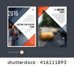 brochure template layout  cover ... | Shutterstock .eps vector #416111893