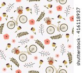 spring floral seamless pattern... | Shutterstock .eps vector #416118937