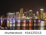 the skyline of miami downtown...   Shutterstock . vector #416125213