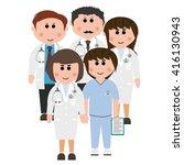 hospitals  doctors | Shutterstock .eps vector #416130943