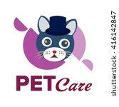 pet logo template  | Shutterstock .eps vector #416142847