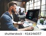 3d creativity illusion graphic...   Shutterstock . vector #416146057