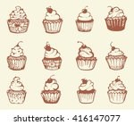 sketches of different types of... | Shutterstock .eps vector #416147077