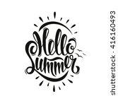 summer poster  lettering ... | Shutterstock .eps vector #416160493