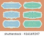 set of vector labels  cutout... | Shutterstock .eps vector #416169247