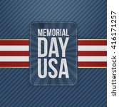 memorial day usa greeting sign | Shutterstock .eps vector #416171257
