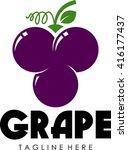 fruit logo template  | Shutterstock .eps vector #416177437