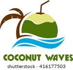 fruit logo template  | Shutterstock .eps vector #416177503