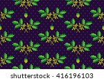plant cool elegant pattern on... | Shutterstock .eps vector #416196103
