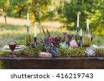 Wedding Table Decoration. Plat...