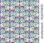 classic elegant bright seamless ... | Shutterstock .eps vector #416224633