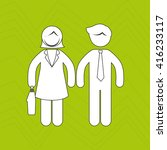 teamwork concept design    Shutterstock .eps vector #416233117