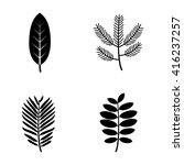 leaves vector icons | Shutterstock .eps vector #416237257