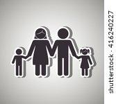 family members design  | Shutterstock .eps vector #416240227