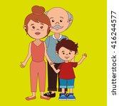 family members design  | Shutterstock .eps vector #416244577