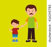 family members design  | Shutterstock .eps vector #416245783