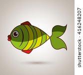 seafood dinner design    Shutterstock .eps vector #416248207