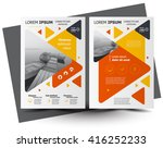 flyer brochure design  business ... | Shutterstock .eps vector #416252233