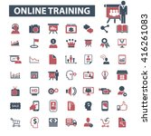 online training icons  | Shutterstock .eps vector #416261083