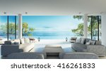 beach living on sea view   3d... | Shutterstock . vector #416261833