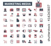 marketing media icons  | Shutterstock .eps vector #416263837