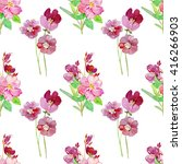 seamless pattern with... | Shutterstock . vector #416266903