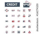 credit icons  | Shutterstock .eps vector #416274103