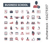 business school icons  | Shutterstock .eps vector #416275357