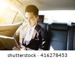 young businessman using tablet ... | Shutterstock . vector #416278453