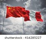 3d illustration of china   peru ... | Shutterstock . vector #416285227