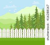 summer outdoor recreation.... | Shutterstock .eps vector #416288167