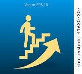 career ladder vector icon | Shutterstock .eps vector #416307307