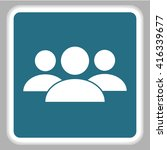 business man icon.   team work  | Shutterstock .eps vector #416339677