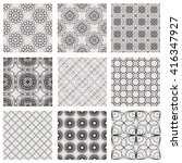 set of seamless minimalistic... | Shutterstock .eps vector #416347927