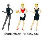 waitress design for pub | Shutterstock .eps vector #416357533