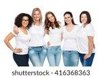 friendship  diverse  body... | Shutterstock . vector #416368363