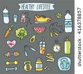 healthy lifestyle. vector... | Shutterstock .eps vector #416378857