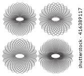 guilloche vector elements.... | Shutterstock .eps vector #416389117