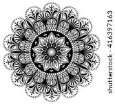 vector black and white mandala...   Shutterstock .eps vector #416397163