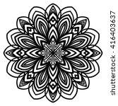 ornamental round doodle flower... | Shutterstock .eps vector #416403637