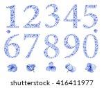 Blue Floral Watercolor...
