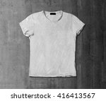 t shirt with concrete | Shutterstock . vector #416413567