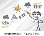 objectives of teamwork   vector ... | Shutterstock .eps vector #416417443