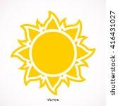 Sun Icon Isolated Background