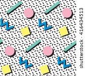 print retro seamless pattern in ... | Shutterstock .eps vector #416434513