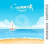 beautiful summer background... | Shutterstock .eps vector #416451913