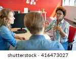 unposed group of creative... | Shutterstock . vector #416473027
